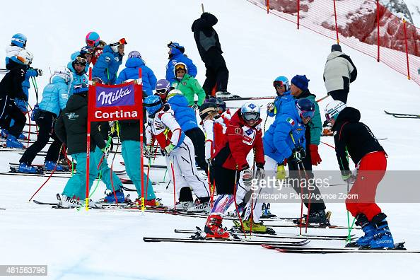 Tina Weirather of Liechtenstein competes during the Audi FIS Alpine Ski World Cup Women's Downhill Training on January 15 2015 in Cortina d'Ampezzo...