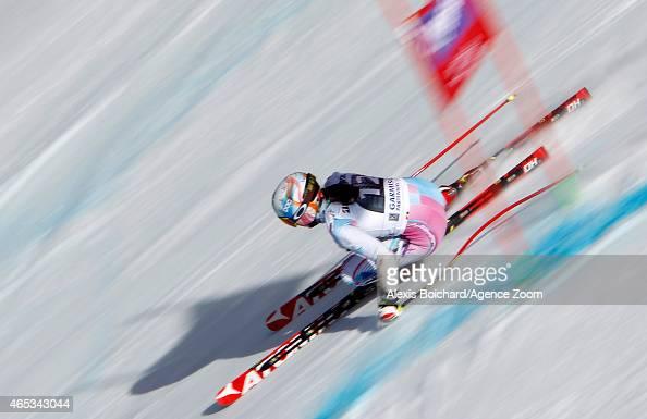 Tina Weirather of Liechtenstein competes during the Audi FIS Alpine Ski World Cup Women's Downhill Training on March 06 2015 in GarmischPartenkirchen...