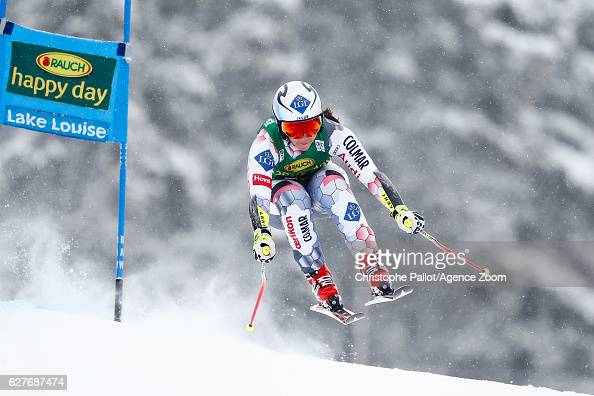 Tina Weirather of Liechtenstein competes during the Audi FIS Alpine Ski World Cup Women's SuperG on December 4 2016 in Lake Louise Canada
