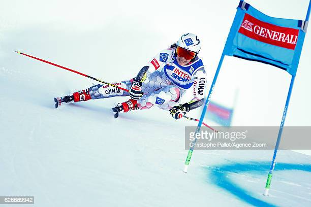 Tina Weirather of Liechtenstein competes during the Audi FIS Alpine Ski World Cup Women's Giant Slalom on December 10 2016 in Sestriere Italy