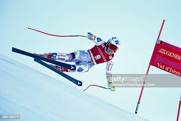 Tina Weirather of Liechtenstein competes during the Audi FIS Alpine Ski World Cup Women's SuperG on December 18 2016 in Vald'Isere France