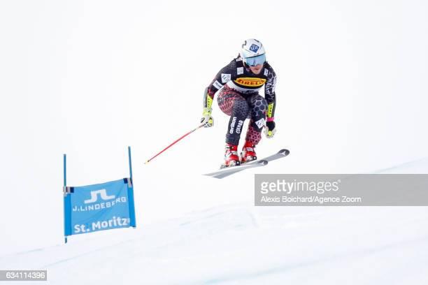 Tina Weirather of Liechtenstein competes during the FIS Alpine Ski World Championships Women's SuperG on February 07 2017 in St Moritz Switzerland