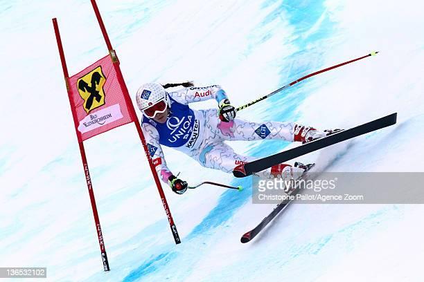 Tina Weirather of Liechtenstein in action during the Audi FIS Alpine Ski World Cup Women's Downhill on January 7 2012 in Bad Kleinkirchheim Austria
