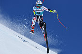 Tina Weirather of Liechtenstein in action during the Audi FIS Alpine Ski World Cup Finals Men's and Women's Super G on March 17 2016 in St Moritz...
