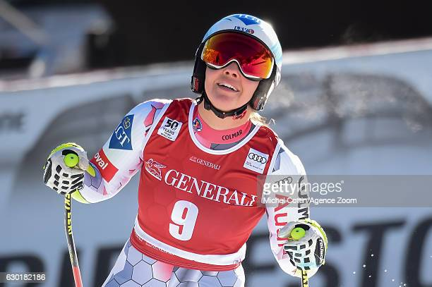 Tina Weirather of Liechtenstein takes 2nd place during the Audi FIS Alpine Ski World Cup Women's SuperG on December 18 2016 in Vald'Isere France