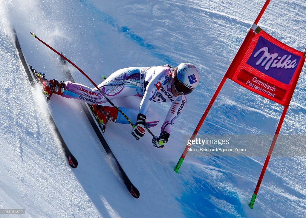 Tina Weirather of Liechtenstein takes the 1st place during the Audi FIS Alpine Ski World Cup WomenÕs Downhill on March 07 2015 in...