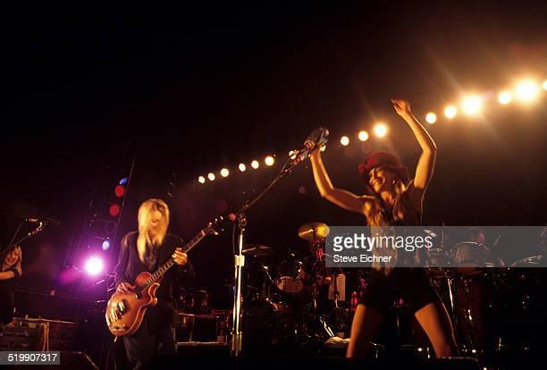 Tina Weymouth and Victoria Clamp of Tom Tom Club perform New York November 1 1992