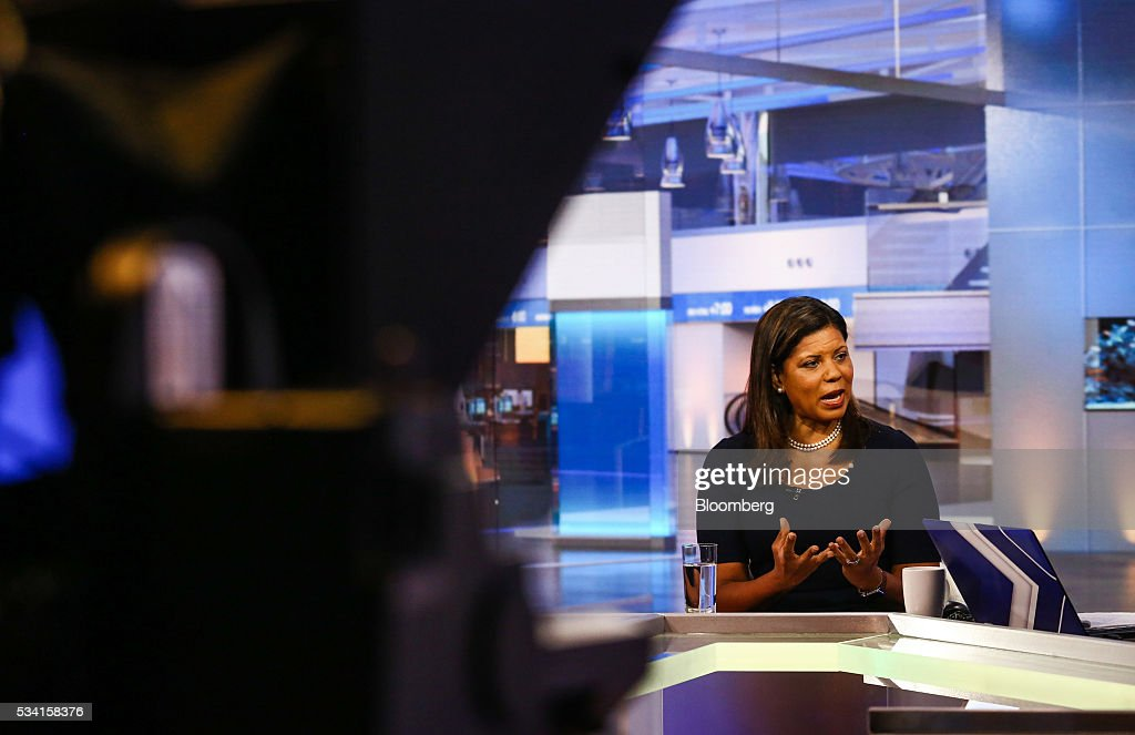 Tina Williams, chief executive officer of FIS Group Inc., speaks during a Bloomberg Television interview in New York, U.S., on Wednesday, May 25, 2016. Williams discussed China's concern over Fed rate hikes. Photographer: Chris Goodney/Bloomberg via Getty Images