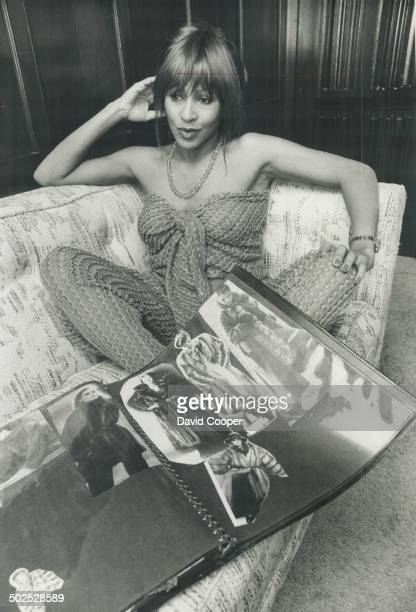 Tina's favorites Singer Tina Turner and her dream book of clothes hair and makeup ideas Her finely textured gold jumpsuit was made from Missoni pants...