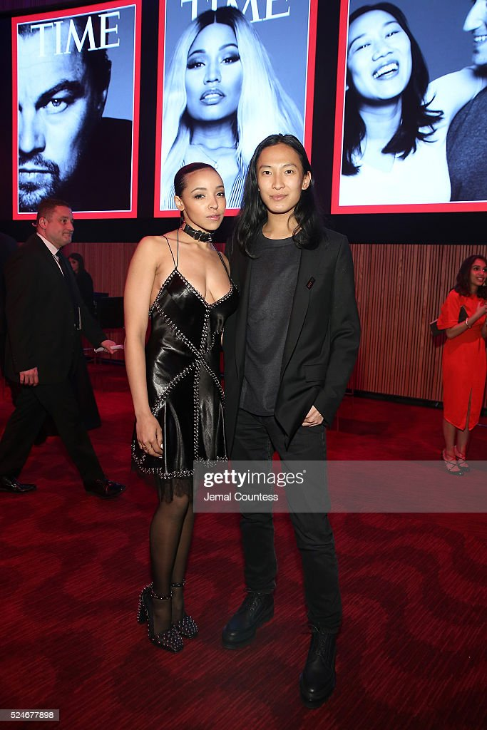 Tinashe and designer Alexander Wang attend 2016 Time 100 Gala Time's Most Influential People In The World Cocktails at Jazz At Lincoln Center at the...