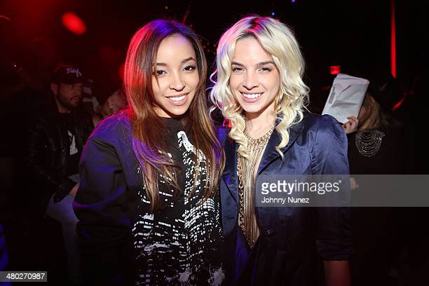 Tinashe and Lauriana Mae attend the Legendary Damons annual LUXXBALL at Marquee on March 23 2014 in New York City
