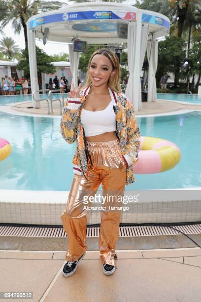 Tinashe attends the iHeartSummer '17 Weekend By ATT Day 1 at Fontainebleau Miami Beach on June 9 2017 in Miami Beach Florida