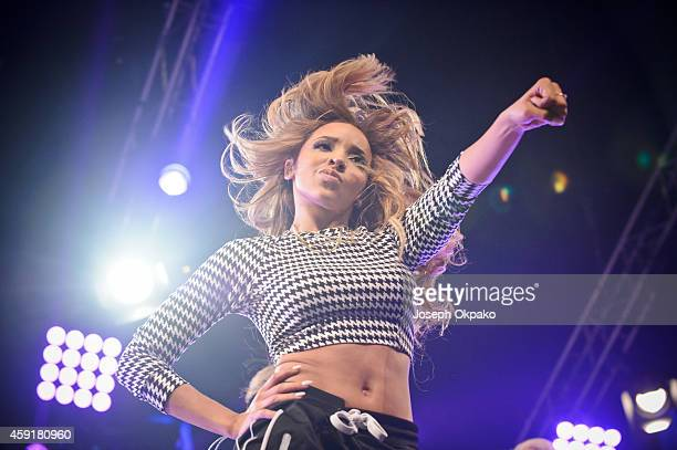 Tinashe performs on stage for 1Xtra Live at NIA Arena on November 15 2014 in Birmingham United Kingdom