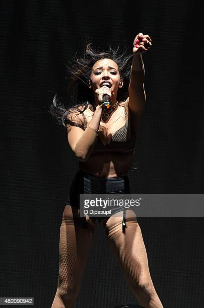 Tinashe performs onstage at Barclays Center of Brooklyn on July 26 2015 in New York City
