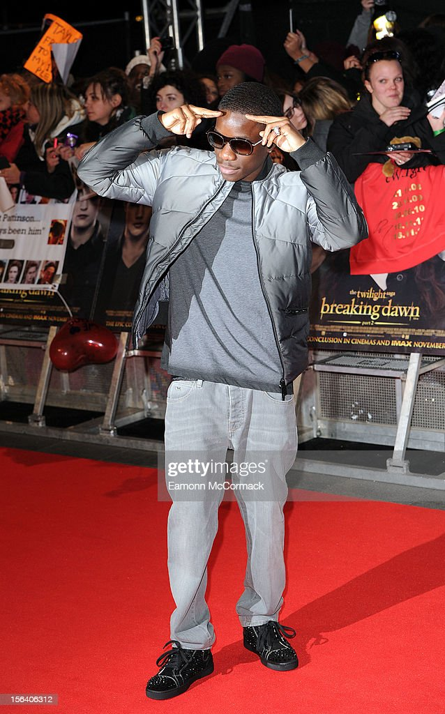 <a gi-track='captionPersonalityLinkClicked' href=/galleries/search?phrase=Tinchy+Stryder&family=editorial&specificpeople=4599337 ng-click='$event.stopPropagation()'>Tinchy Stryder</a> attends the UK Premiere of 'The Twilight Saga: Breaking Dawn - Part 2' at Odeon Leicester Square on November 14, 2012 in London, England.