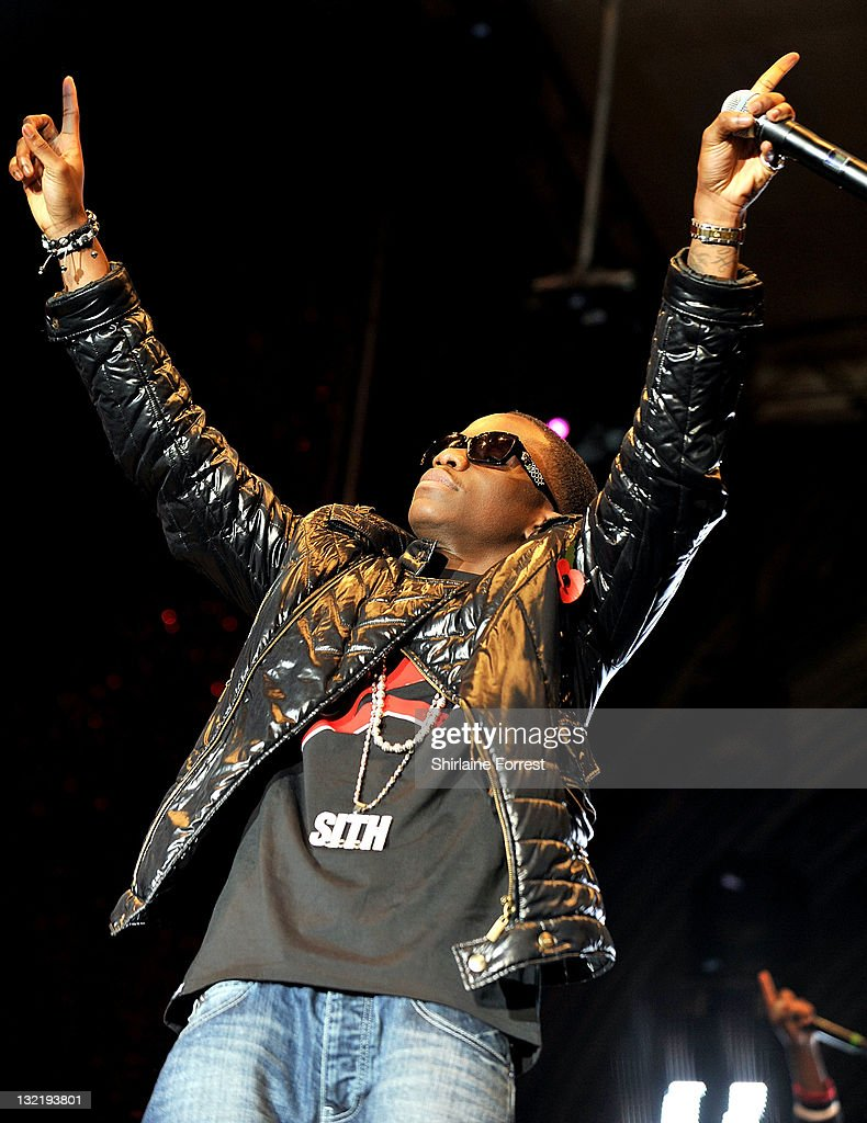 tinchy stryder performs at the manchester christmas light switch on at albert square on november - Christmas Light Switch