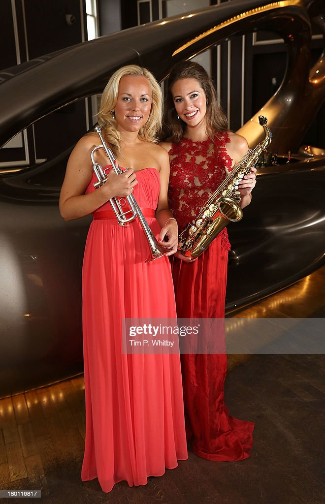 Tine Thing Helseth and Amy Dickson attend a photocall to launch the 2013 Classic Brit Awards at Home House on September 9, 2013 in London, England. The Classical Brits takes place on October 2, 2013 and is presented by Myleene Klass for the sixth year running.