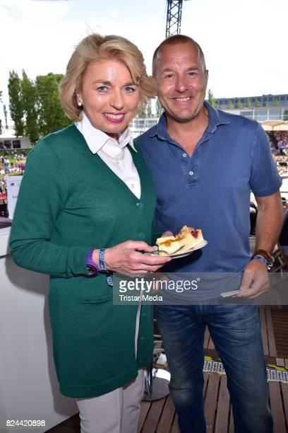 Tini Graefin Rothkirch and Heino Ferch during the Global Jumping at Longines Global Champions Tour at Sommergarten unter dem Funkturm on July 29 2017...
