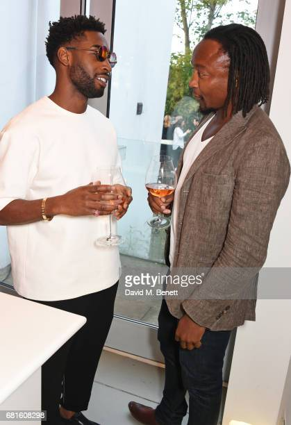 Tinie Tempah and Freddie Achom attend the Clos19 launch dinner on May 10 2017 in London England