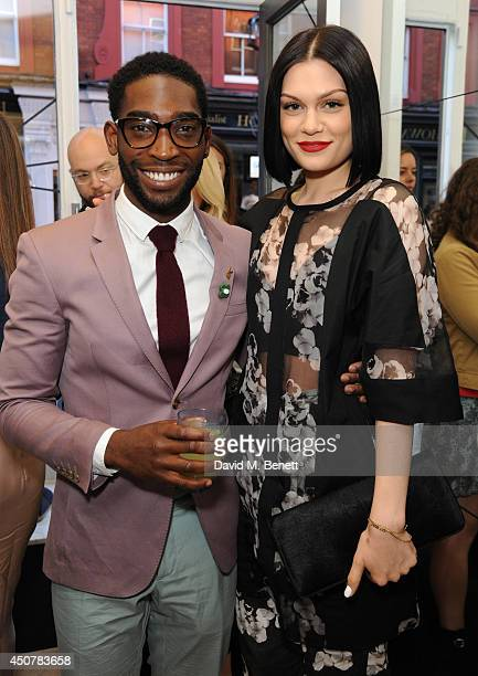 Tinie Tempah and Jessie J attend the launch of London 20 Collection with Prism's founder Anna Laub Tinie Tempah Dumi Oburota at PRISM on June 17 2014...
