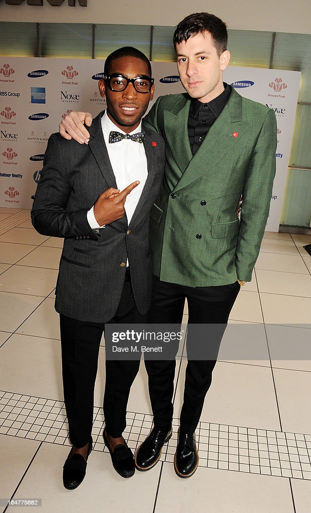 Tinie Tempah (L) and Mark Ronson attend The Prince's Trust & Samsung Celebrate Success Awards at Odeon Leicester Square on March 26, 2013 in London, England.