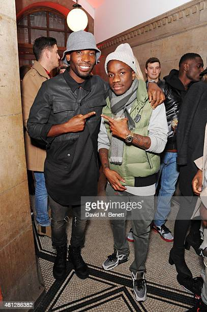 Tinie Tempah and Tinchy Stryder attend as Harvey Nichols and Dazed present the Haculla x Trapstar presentation during London Collections Men AW15 at...