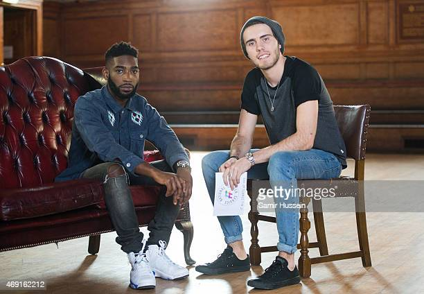 Tinie Tempah and YouTuber Alfie Deyes as Tinie is unveiled as the new ambassador for NCS on April 10 2015 in London England