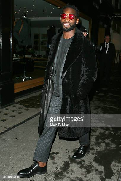 Tinie Tempah attending the London Fashion Week Men's GQ dinner at MNKY HSE on January 9 2017 in London England