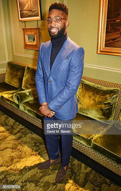Tinie Tempah attends a cocktail reception hosted by the Woolmark Company Pierre Lagrange and the Savile Row Bespoke Association to celebrate 'The...