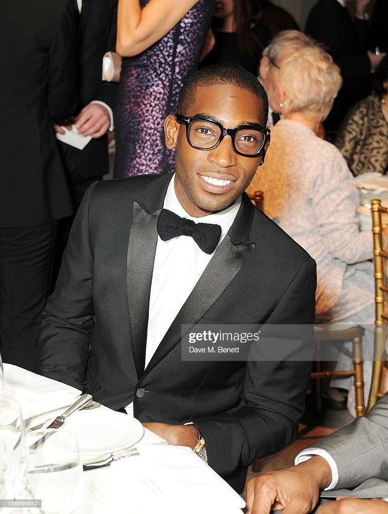 Tinie Tempah attends a drinks reception at the 58th London Evening Standard Theatre Awards in association with Burberry at The Savoy Hotel on November 25, 2012 in London, England.