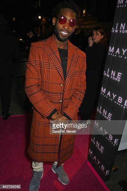 Tinie Tempah attends Maybelline's Bring On The Night London Fashion Week party at The Scotch of St James on February 18 2017 in London England