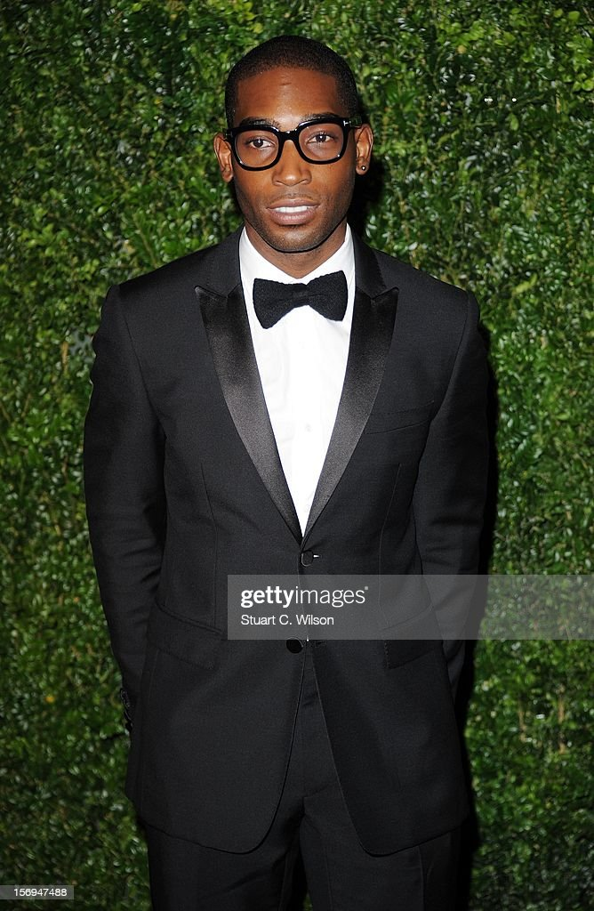 Tinie Tempah attends the 58th London Evening Standard Theatre Awards in association with Burberry on November 25, 2012 in London, England.