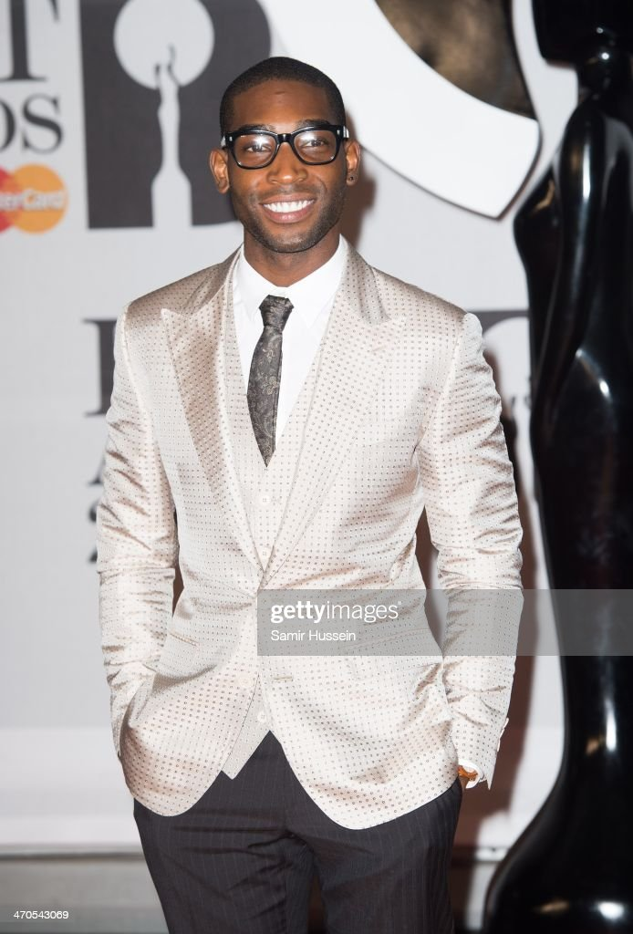 Tinie Tempah attends The BRIT Awards 2014 at 02 Arena on February 19, 2014 in London, England.