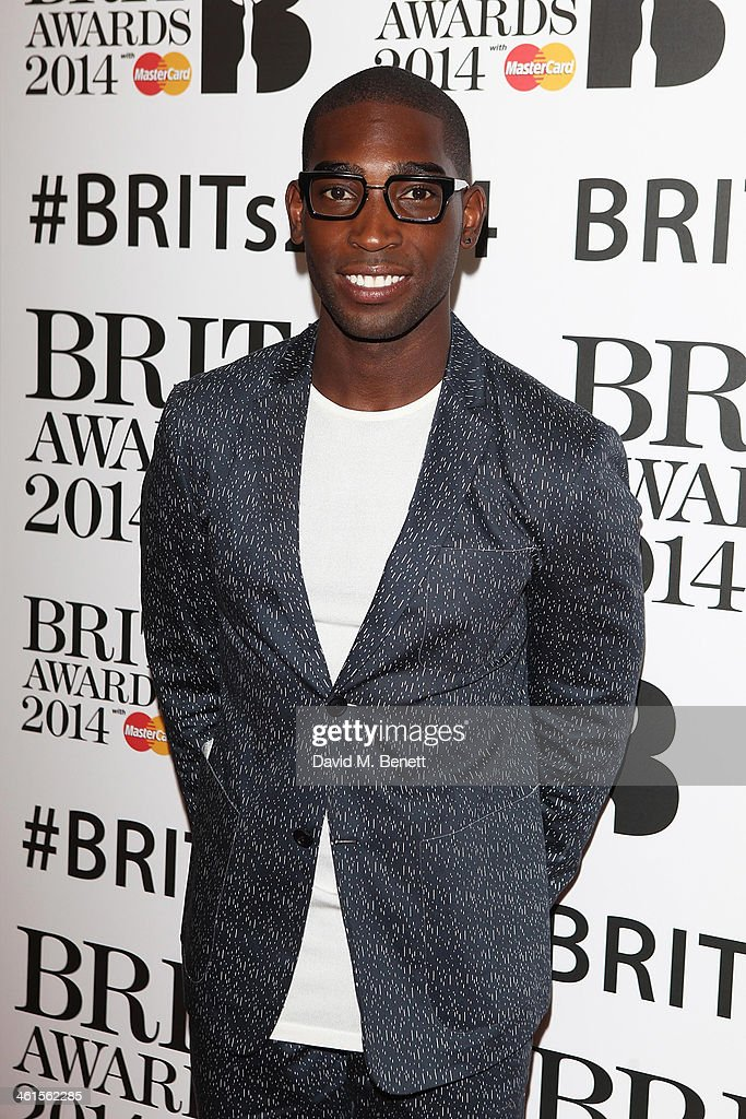 <a gi-track='captionPersonalityLinkClicked' href=/galleries/search?phrase=Tinie+Tempah&family=editorial&specificpeople=6742538 ng-click='$event.stopPropagation()'>Tinie Tempah</a> attends the BRIT Awards nominations on January 9, 2014 in London, England.