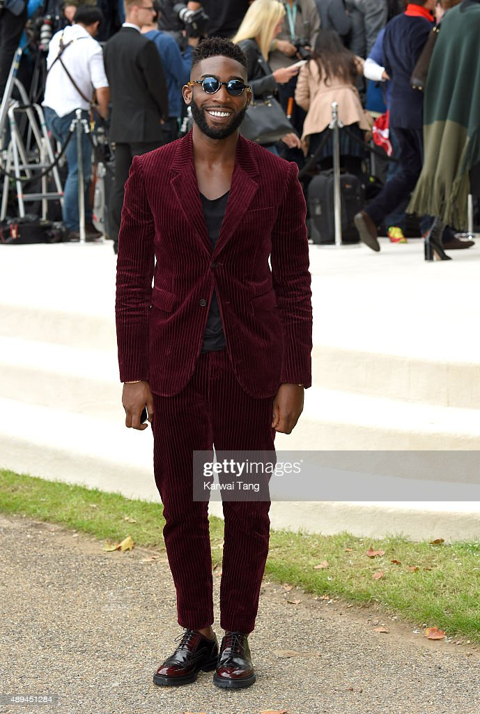 <a gi-track='captionPersonalityLinkClicked' href=/galleries/search?phrase=Tinie+Tempah&family=editorial&specificpeople=6742538 ng-click='$event.stopPropagation()'>Tinie Tempah</a> attends the Burberry Prorsum show during London Fashion Week Spring/Summer 2016/17 at Kensington Gardens on September 21, 2015 in London, England.