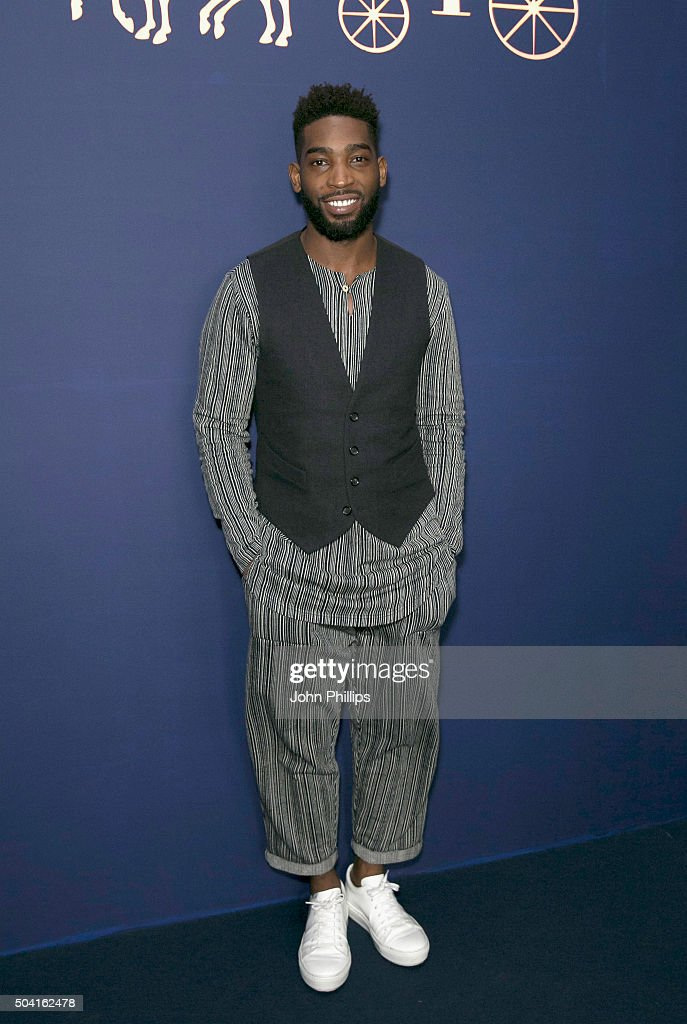 Tinie Tempah attends the Coach show during The London Collections Men AW16 at Lindley Hall on January 9 2016 in London England