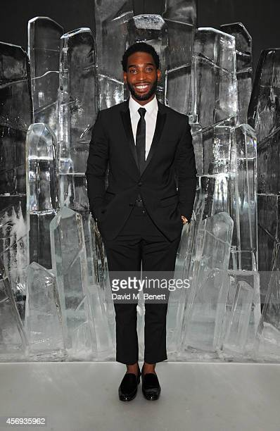 Tinie Tempah attends the dinner hosted by Sandra Choi Creative Director of Jimmy Choo to unveil Jimmy Choo's new VICES collection and installation by...