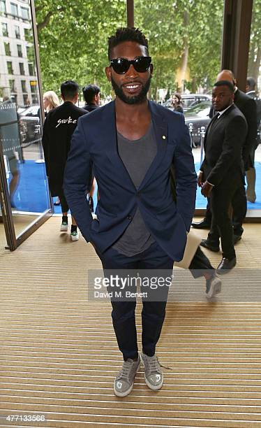 Tinie Tempah attends the dunhill and GQ style presentation to celebrate LCM SS16 at Phillips Gallery on June 14 2015 in London England