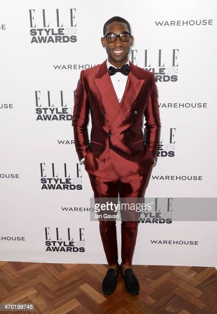 Tinie Tempah attends the Elle Style Awards 2014 at one Embankment on February 18 2014 in London England