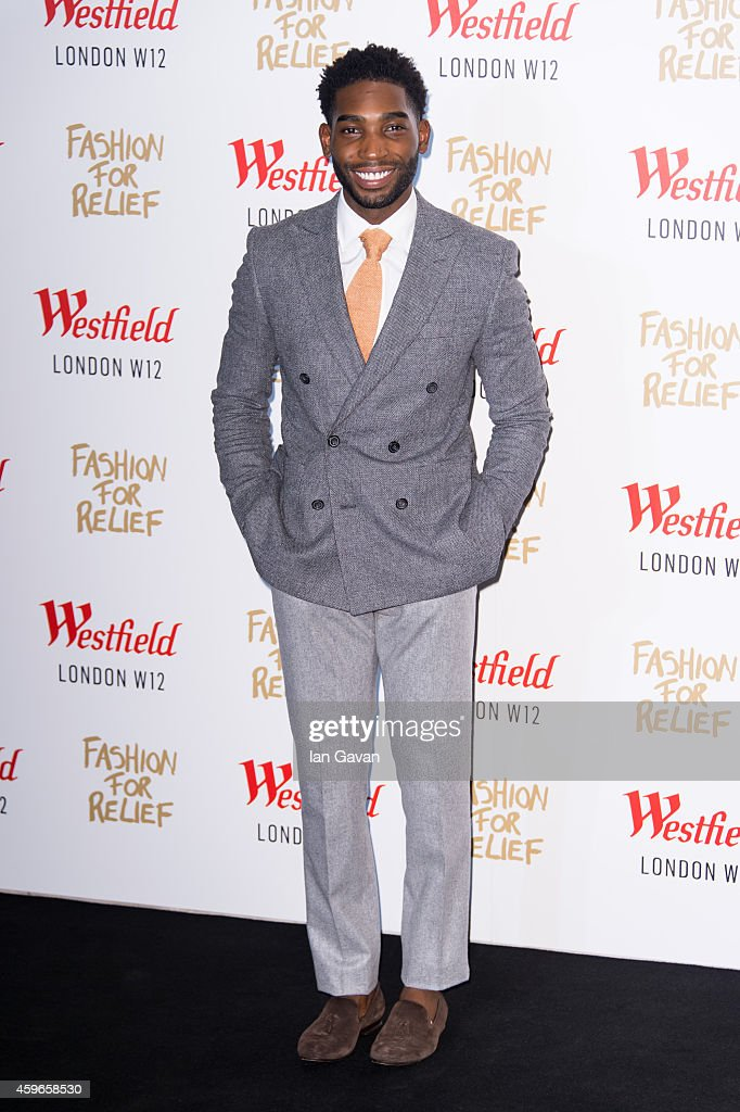 LONDON, ENGLAND - NOVEMBER 27 <a gi-track='captionPersonalityLinkClicked' href=/galleries/search?phrase=Tinie+Tempah&family=editorial&specificpeople=6742538 ng-click='$event.stopPropagation()'>Tinie Tempah</a> attends the Fashion For Relief Pop Up launch party at Westfield shopping centre on November 27, 2014 in London, England.