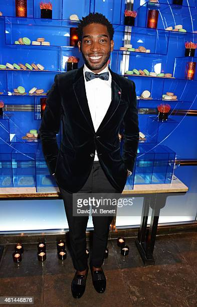 Tinie Tempah attends the GQ London Collections Men AW15 closing dinner at Hakkasan Hanway Place on January 12 2015 in London England