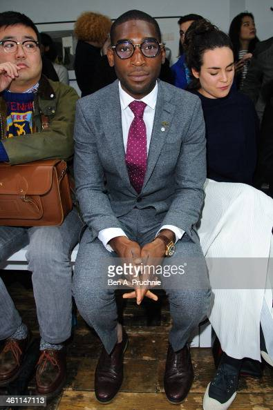 Tinie Tempah attends the Margaret Howell show during The London Collections Men Autumn/Winter 2014 on January 6 2014 in London England