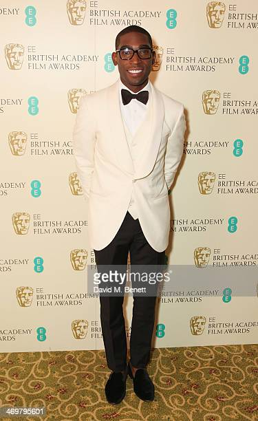 Tinie Tempah attends the official dinner party after the EE British Academy Film Awards at The Grosvenor House Hotel on February 16 2014 in London...