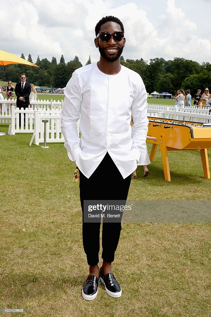 <a gi-track='captionPersonalityLinkClicked' href=/galleries/search?phrase=Tinie+Tempah&family=editorial&specificpeople=6742538 ng-click='$event.stopPropagation()'>Tinie Tempah</a> attends the Veuve Clicquot Gold Cup Final at Cowdray Park Polo Club on July 20, 2014 in Midhurst, England.