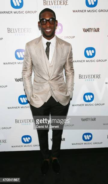 Tinie Tempah attends The Warner Music Group And Belvedere Brit Awards After Party In Association With Vanity Fair at The Savoy Hotel on February 19...