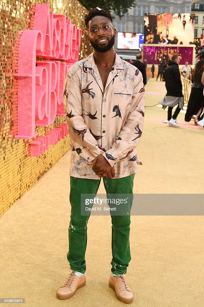 Tinie Tempah attends the World Premiere of 'Absolutely Fabulous: The Movie' at Odeon Leicester Square on June 29, 2016 in London, England.