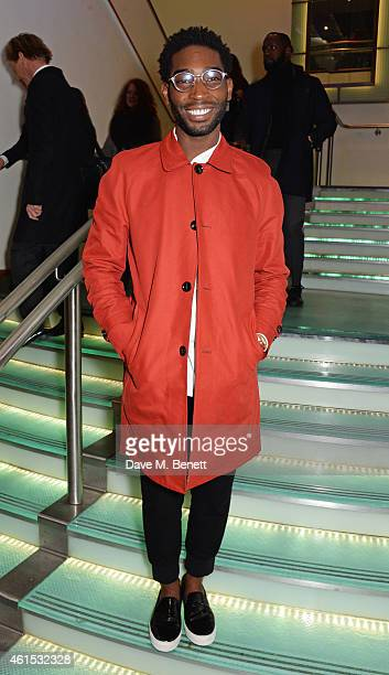 Tinie Tempah attends the World Premiere of 'Kingsman The Secret Service' at Odeon Leicester Square on January 14 2015 in London England