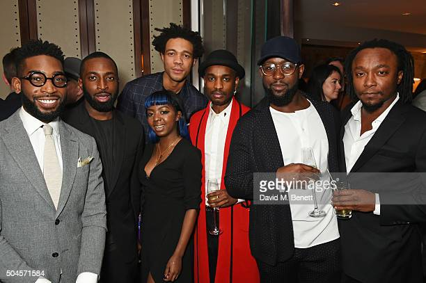 Tinie Tempah Charlie CaselyHayford Dumi Oburota and Freddie Achom attends the London Collections Men AW16 closing dinner hosted by GQ editor Dylan...