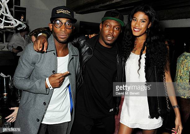 Tinie Tempah Dizzee Rascal and guest attend an after party following Jay Z's Magna Carter World Tour London performance at Shoreditch House on...