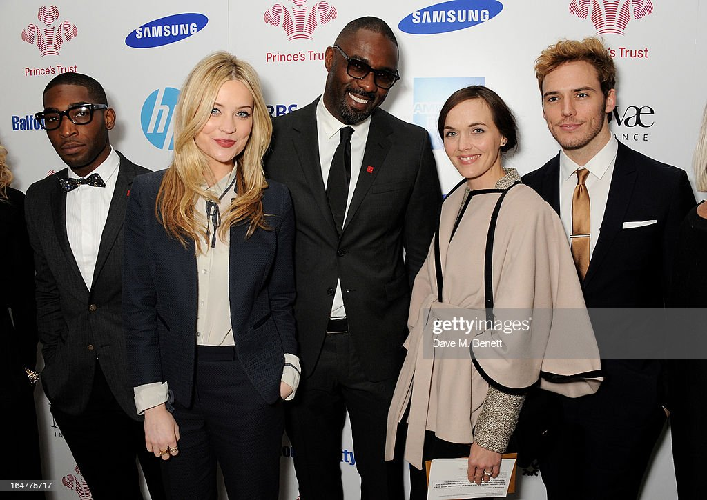 Tinie Tempah, Laura Whitmore, Idris Elba, Victoria Pendleton and Sam Claflin attend The Prince's Trust & Samsung Celebrate Success Awards at Odeon Leicester Square on March 26, 2013 in London, England.